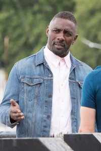 Idris Elba filming Turn Up Charlie