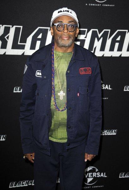 Spike Lee attends the German premiere of 'BlacKkKlansman'