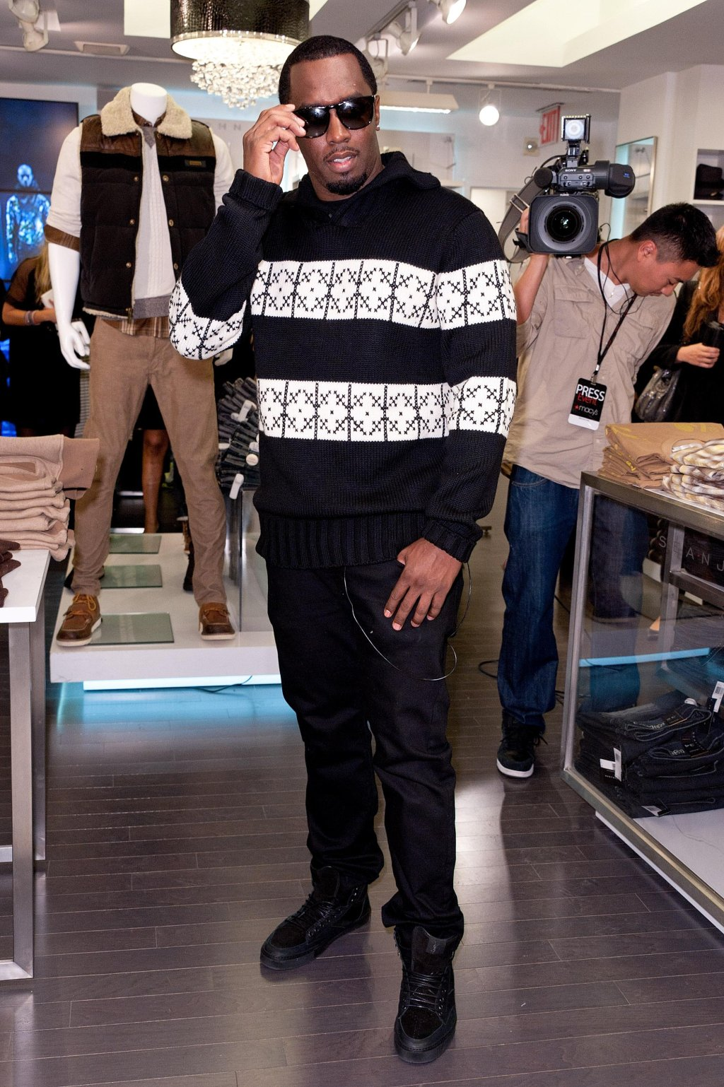 Sean Combs & Terry Lundgren Celebrate The Sean John Concept Store Opening At Macy's