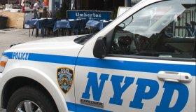 NYPD car in Manhattan New York.