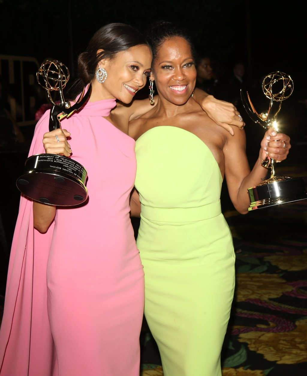 Regina King and Thandie Newton Win at Emmy Awards 2018