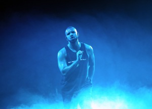 Drake performing at O2 Arena in London