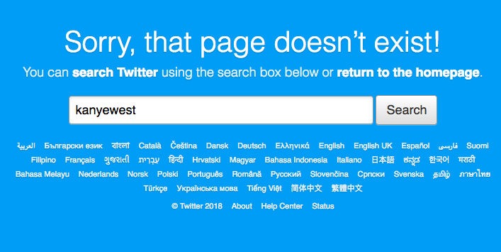 kanye west twitter deleted