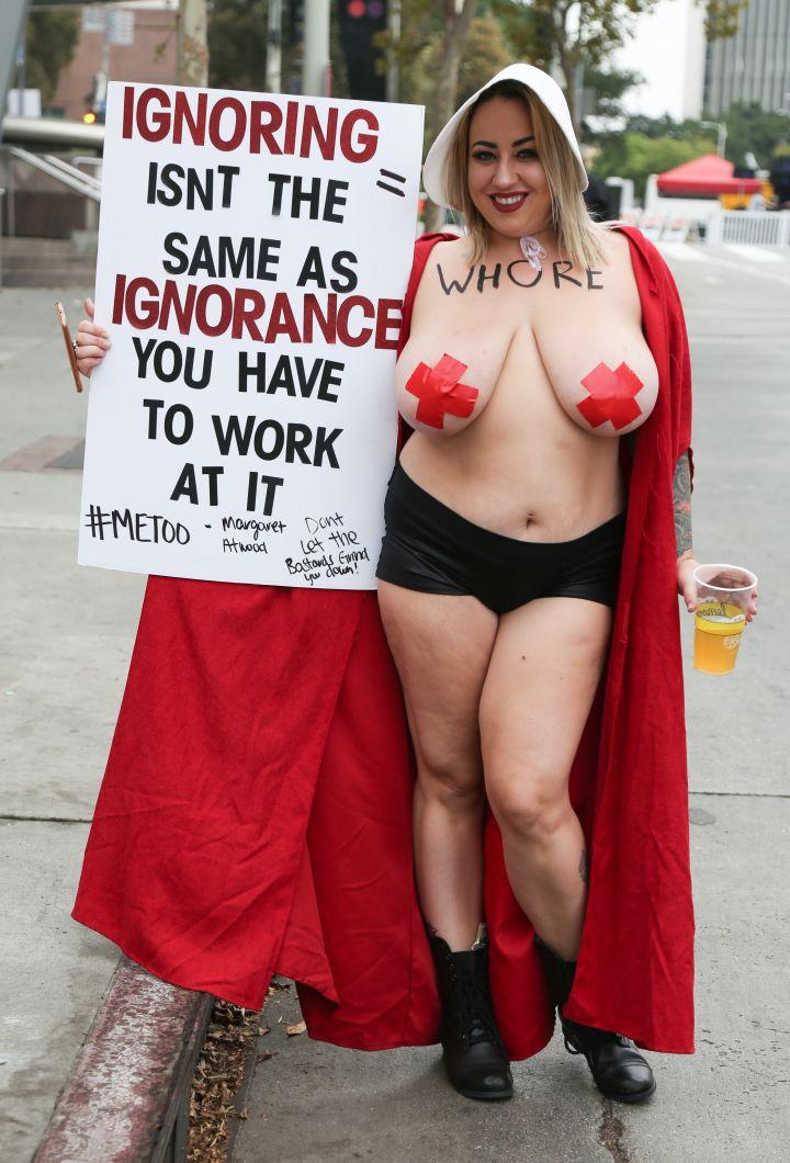 A look at one of the 2018 SlutWalk participants.