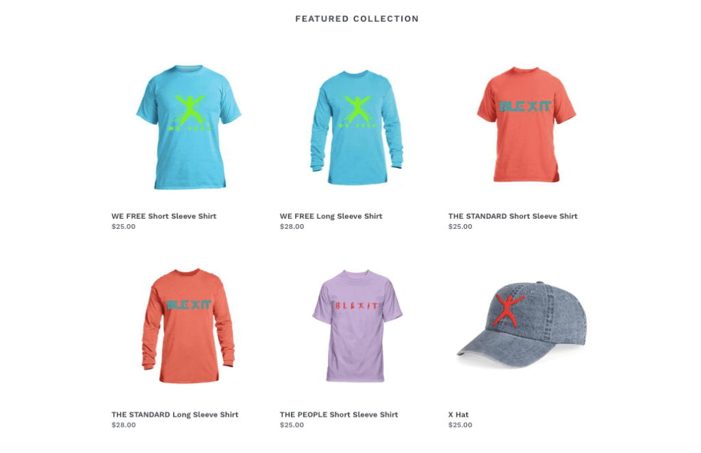 Blexit collection designed by Kanye West