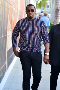Sean Combs out shopping at the Gucci Store