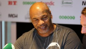 Mike Tyson at a press conference