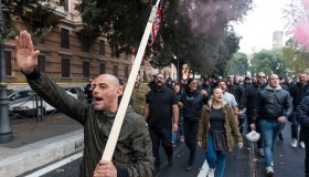 Far-right Group Protest In Rome