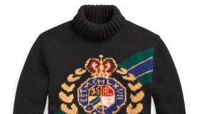 Polo Ralph Lauren Wool Turtleneck Crest Sweater