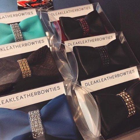 Dleak Leather Bow Ties