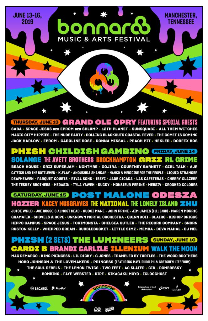 Bonnaroo 2019 line up