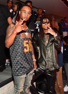 Celebrities Attend The Cleveland Cavaliers Vs Atlanta Hawks Game