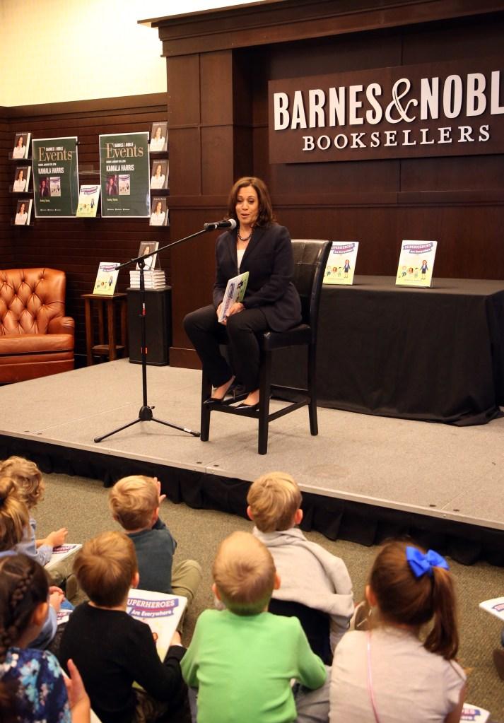 "Kamala Harris Signs Copies Of Her New Book ""Superheros Are Everywhere"""