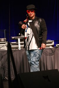 Rapper Da Brat performing live at the Be You Expo