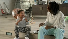 Wiz Khalifa aka Cameron Thomaz and son Sebastian Taylor Thomaz
