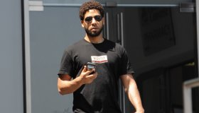 Jussie Smollett out and about in Beverly Hills.