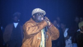 Notorious B.I.G. performs live