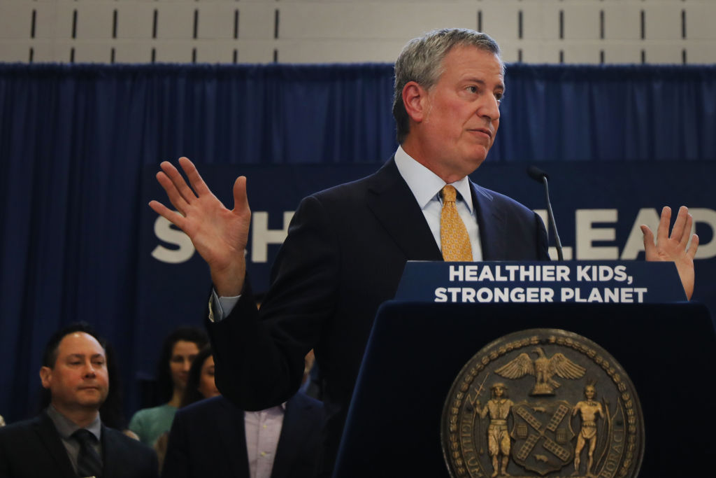 Mayor Bill De Blasio Announces 'Meatless Mondays' For New York City Public Schools