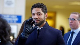 Actor Jussie Smollett Appears Outside Of Court After It Was Announced That All Charges Have Been Dropped Against Him