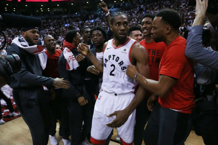 Toronto Raptors play the Philadelphia 76ers in game seven of their second round series in the NBA play-offs