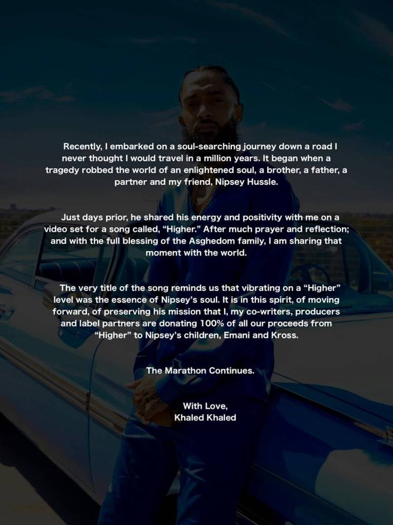 DJ Khaled Marathon letter