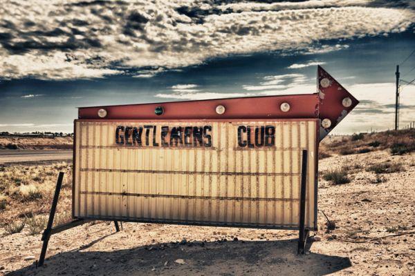 Gentlemen's Club Sign