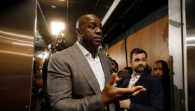 """Earvin """"Magic"""" Johnson Steps Down As Lakers President Of Basketball Operations"""