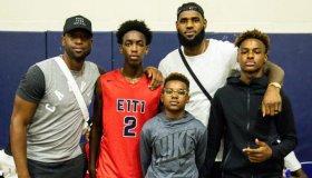 LeBron James and Dwyane Wade Watch Zaire Wade's AAU game