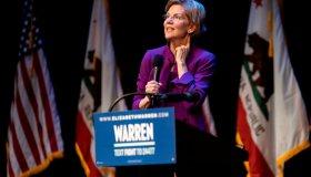 Presidential candidate, Senator Elizabeth Warren seen...