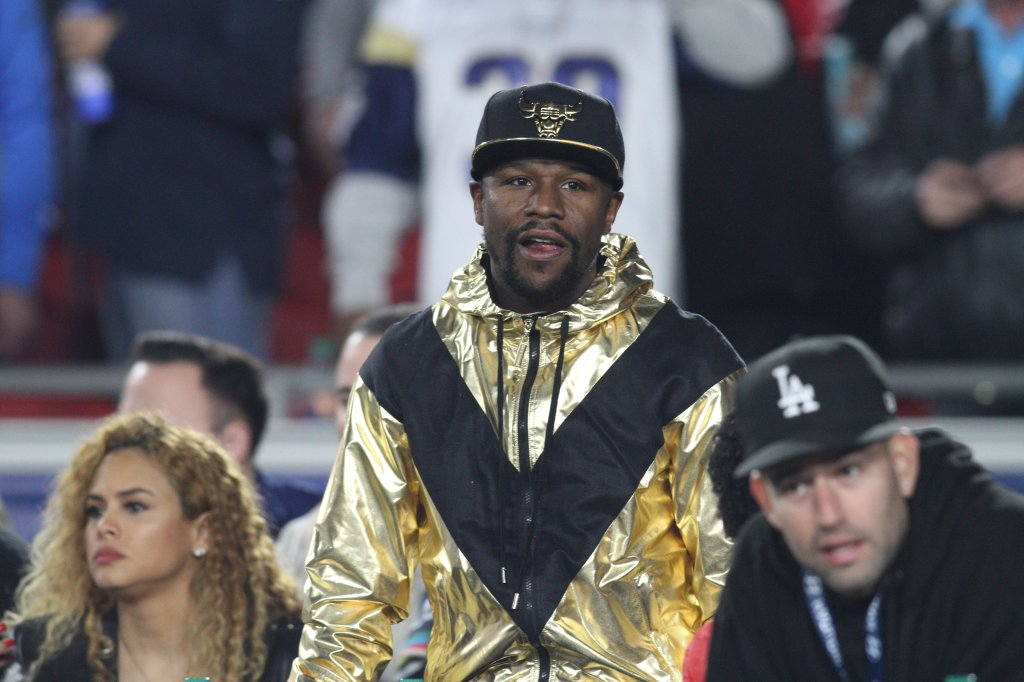 Celebrities at the Los Angeles Rams game