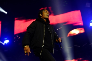 A$AP Rocky and Wiz Khalifa peform at the O2 Arena London