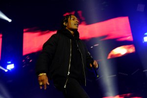 A$AP Rocky and Wiz Khalifa peform at the O2 Arena London