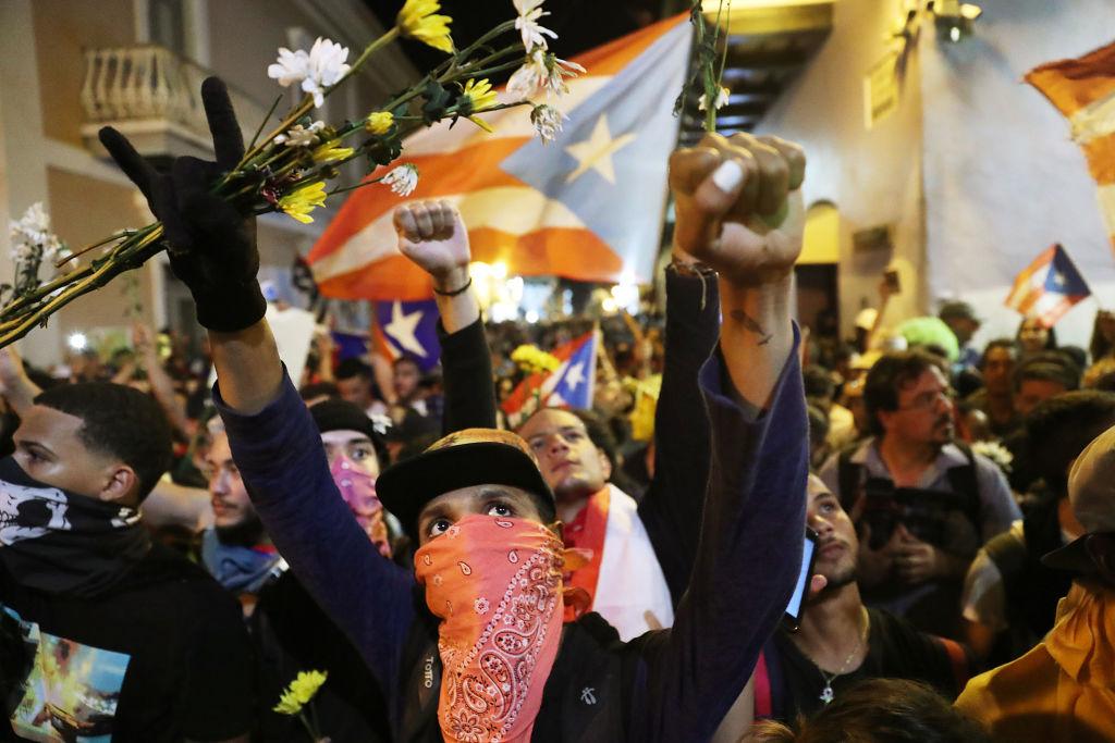 Protesters Demand Resignation Of Puerto Rico's Governor Ricardo Rossello