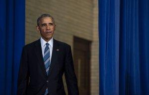 President Barack Obama speaks at Benjamin Banneker Academic High School