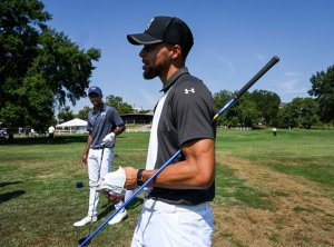 NBA superstar Stephen Curry launches Howard University golf program, on August 19 in Washington, DC.