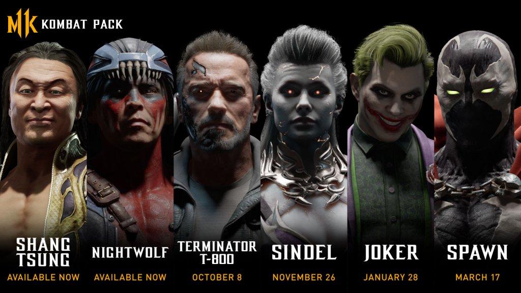 Mortal Kombat 11 Kombat Pack Roadmap