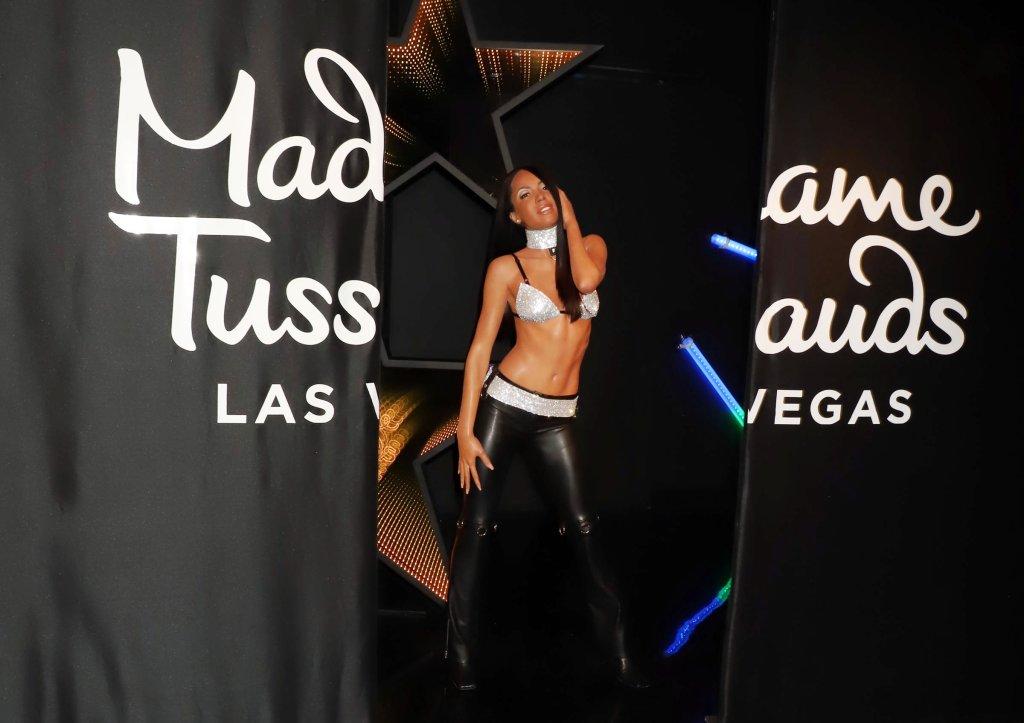 Madame Tussauds unveils their Aaliyah Wax Figure in Las Vegas