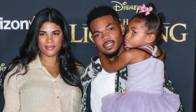Kirsten Corley, Chance The Rapper and Kensli Bennett arrive at the World Premiere Of Disney's 'The Lion King' held at the Dolby Theatre on July 9, 2019 in Hollywood, Los Angeles, California, United States. (Photo by Xavier Collin/Image Press Agency)
