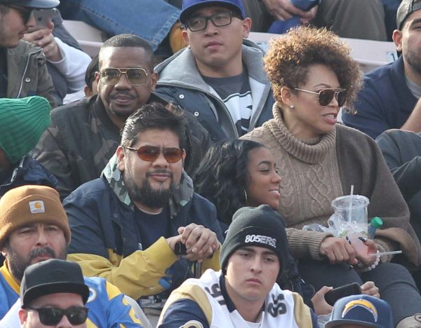 Celebrity sightings at the Rams game