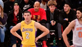 Celebrities Attend The New York Knicks Vs Los Angeles Lakers Game