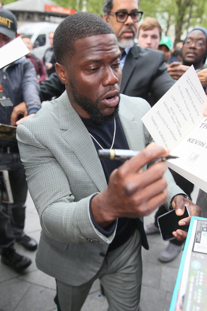 Kevin Hart and Eric Stonestreet arriving at Global Radio to promote their new film 'Secret Life Of Pets 2' - London