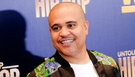 Irv Gotti attends the Growing Up Hip Hop, New York and...