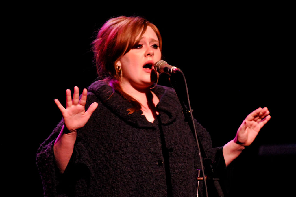 Soulful singer Adele performs at the Warfield Theatre in San Francisco, Calif. on Thursday, January 30, 2009. (Dean Coppola/Staff)