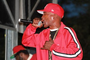Rapper Rakim performed live at the People's Poetry and Jazz Festival in Philadelphia