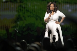Oprah Winfrey on stage during her 'Your Path Made Clear' tour