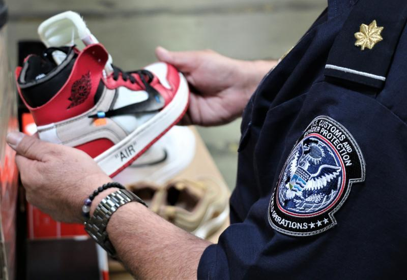 Fake Nike Sneakers at the Border