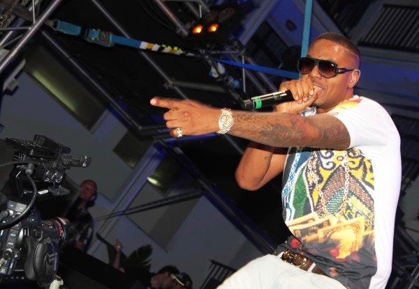 Rapper Nas performing at Ibiza Rocks Hotel