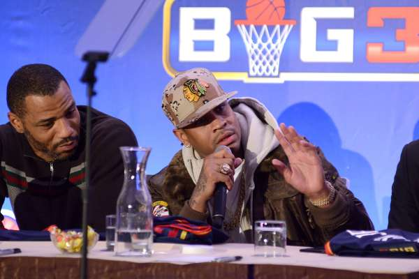 Ice Cube, NBPA Roger Mason Jr., and entertainment executive Jeff Kwatinetz host a press conference in New York City