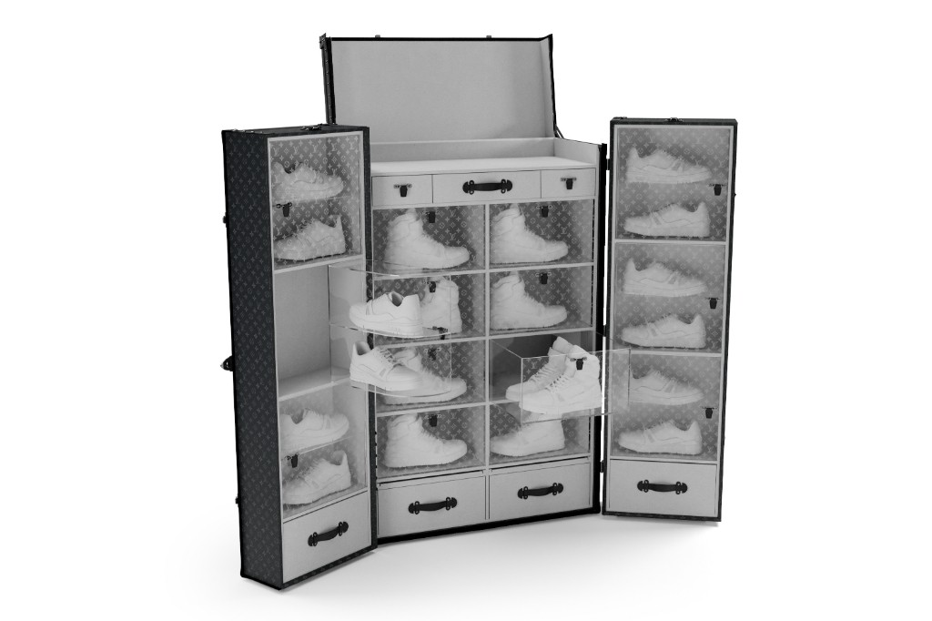 Louis Vuitton sneaker trunk