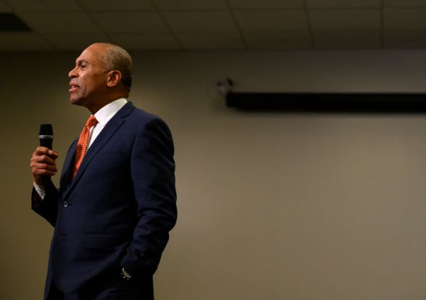 Former Massachusetts Governor Deval Patrick Makes First Trip To Iowa In Presidential Bid